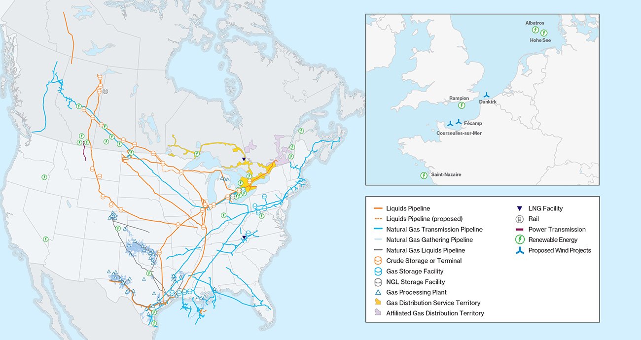 Enbridge asset map